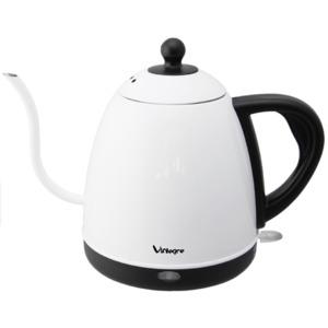 ViAlegre(ビアレグレ)  エレクトリックケトル 0.8L VD-K121W ステンレス ホワイト