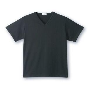 デオル ブイネックピケTシャツ 黒 Mサイズ