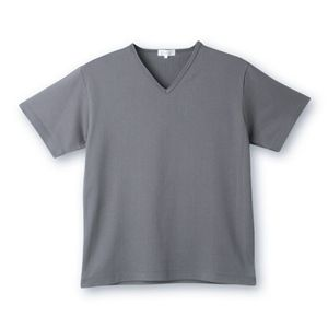 デオル ブイネックピケTシャツ グレー Sサイズ