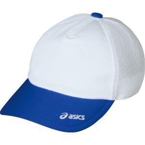 ASICS(アシックス) メッシュキャップ ホワイト×ブルー OWC103 L