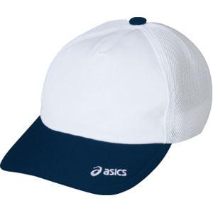 ASICS(アシックス) メッシュキャップ ホワイト×ネイビー OWC103 L