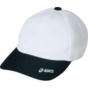 ASICS(アシックス) メッシュキャップ ホワイト×ブラック OWC103 L