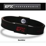 EFX(イーエフエックス) パフォーマンス リストバンド スポーツブレスレット ブラック×レッド[正規品]4001567b-232 Mサイズ