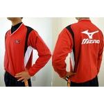 MIZUNO(ミズノ) ジュニア用 Vネックジャケット 52wj-713 レッド(62) 140サイズ