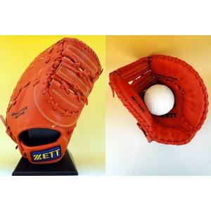 ZETT(ゼット) 一般ソフトボール用グローブ『GRANSTATUS(グランステイタス)』 ファースト用 ディープオレンジ(5800) 右投用