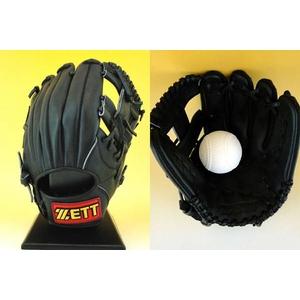 ZETT(ゼット) 『バック ステージ』少年軟式グローブ オールラウンド用 ブラック(1900) 右投げ用 ブラック(1900) 右投げ用
