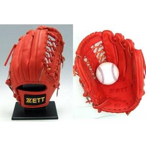 ZETT(ゼット) プロステイタス硬式グローブ 三塁手用 ディープオレンジ