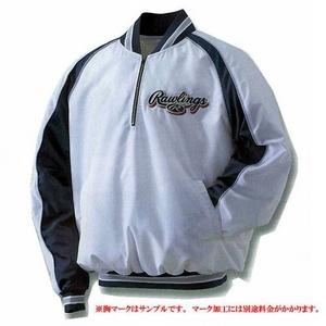 プロも認めるクオリティ♪Rawlings(ローリングス) ベースボール 『長袖Vジャンパー』 BRG275 M ブラック×S/グレー(9010)