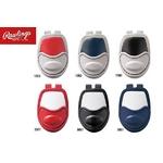 Rawlings(ローリングス) スロートガード 硬式・軟式・ソフトボール兼用 rtg201 F(縦144mm) ホワイト×レッド(1023) 【3セット】