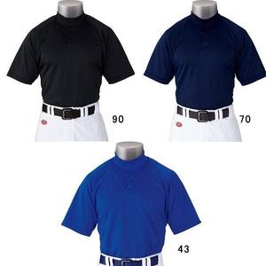 09年モデル!!Rawlings(ローリングス) オルタネートシャツ ボタンタイプ 野球 ベースボールシャツ rya100 2xoサイズ Sグレー(10)