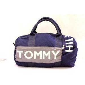 【TOMMY HILFIGER】トミーヒルフィガーミニボストン ネイビー ホワイト