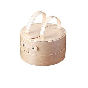 ジュエリーボックス(宝石箱) 丸型 引き出し収納付き TR2119 ピンク