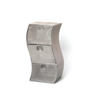 ワイヤーメッシュCDラック スチール鉄線 幅16cm×奥行14.5cm×高さ35.5cm ISK-88