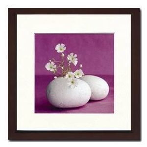 風景専門店あゆわら 《アートフレーム》Amelie Vuillon(アメリ・ヴイヨン)/ Galets et fleurs blanches