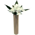 風景専門店あゆわら 《造花・花瓶》F-style vase Plumeria White(プルメリアベース/ホワイト) タイプ2 【サイズ H400mm】