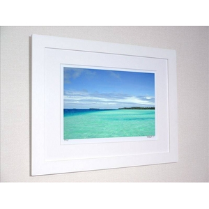 風景専門店あゆわら 《アートフォトフレーム》タヒチ ボラボラ島 コバルトブルーとエメラルドグリーンの海