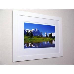 風景専門店あゆわら 《アートフォトフレーム》スイス アイガーが映る池