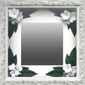 風景専門店あゆわら 《インテリア ミラー》Plumeria Mirror White(プルメリアミラー/ホワイト)