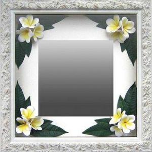 風景専門店あゆわら 《インテリア ミラー》Plumeria Mirror Yellow(プルメリアミラー/イエロー)