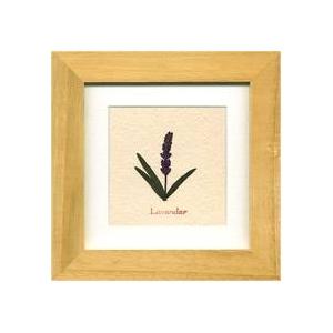 風景専門店あゆわら 《ハーブ アートフレーム》Lavender(ラベンダー) タイプ1 【サイズ 140x140x20mm】