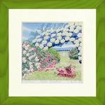 風景専門店あゆわら 《栗乃木ハルミ くりのき はるみ アートフレーム》Rose garden