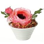 《造花・花瓶》クリエイティブフラワーアート ラナンキュラス(ピンク)