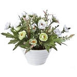 《造花・花瓶》クリエイティブフラワーアート ミニローズ(ホワイト)