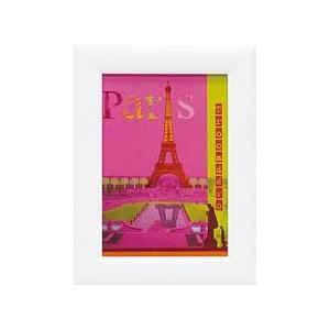 風景専門店あゆわら 《アートフレーム》パリ・コラージュ ピンク パリス