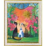 《絵画》ロジーナ 花の庭