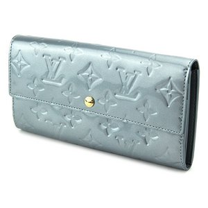 Louis Vuitton(ルイヴィトン) モノグラム・ヴェルニ ポルトフォイユ・サラ M91564 長財布 レディース シルバー