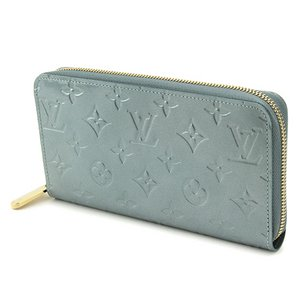 Louis Vuitton(ルイヴィトン) モノグラム・ヴェルニ ジッピー ウォレット M91565 長財布 レディース シルバー ラウンドファスナー