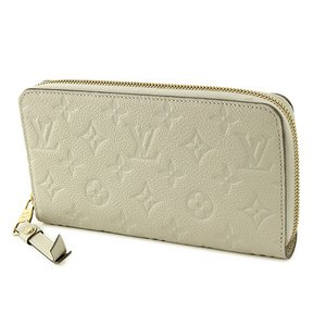 Louis Vuitton(ルイヴィトン) モノグラム・アンプラント ポルトフォイユ・スクレット ロン M93437 長財布 レディース ホワイト ラウンドファスナー