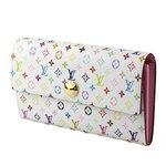 Louis Vuitton(ルイヴィトン) モノグラム・マルチカラー ポルト コライユ サラ M93744 長財布 レディース ホワイト×パープル