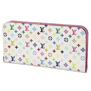 Louis Vuitton(ルイヴィトン) モノグラム・マルチカラー ポルトフォイユ アンソリット M93751 長財布 レディース ピンク×ホワイト