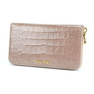 miumiu(ミュウミュウ) COCCO LUX 5M0506 ライトピンク 長財布
