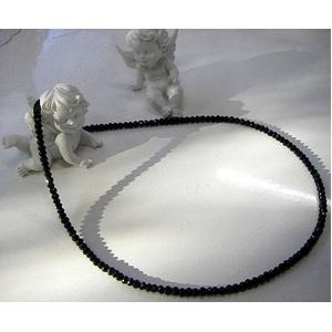 ブラックスピネルネックレス 45cm 4mmタイプ