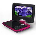 ZOX(ゾックス) 7インチ液晶搭載DVDプレーヤー DS-PP70NC112MG マゼンタ VRモード・CPRM対応、USB・MMC