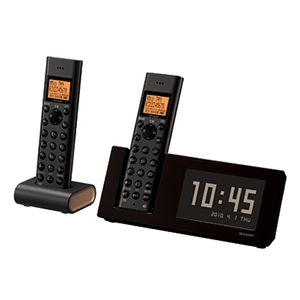 SHARP(シャープ) インテリアホン デジタルコードレス留守番電話機(子機2台付き)JD-4C1CW-T ブラウン系 JD4C1CW