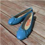 Eli(エリ) 差し色にぴったりの鮮やかなブルー♪本革 フラットバレエシューズ MOD5631-34 サイズ34