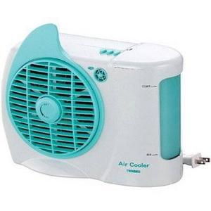 マイナスイオン発生機能付!水の気化熱を利用した涼風!ツインバード コンパクト冷風扇 EF-4982GR【訳ありアウトレット品】