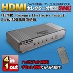 PS3やwiiなどHDMIケーブルの分配・切替をこのセレクターで MotionTech HDMI SWITCH 4×1(シルバー) SW402-SV (リモコン付)