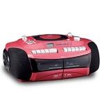 CDラジカセ ダブルカセット おけいこラジカセ CDラジカセ GW-7 カラー:レッド GW-7R 創和 遅聞き・早聞き機能搭載