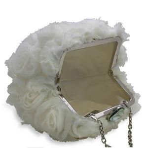Sondra Roberts(サンドラ・ロバート) パーティーバッグ クラッチ Chiffon Frame Pouch ホワイト R47833C -WH
