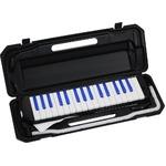 カラフル32鍵盤ハーモニカ MELODY PIANO P3001-32K ブラック/ブルー