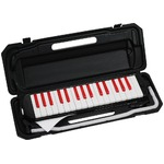カラフル32鍵盤ハーモニカ MELODY PIANO P3001-32K ブラック/レッド