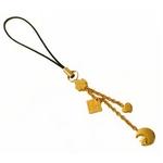 24Kゴールド純金携帯ストラップ【月心】24金99.99%の輝き☆! ゴールド携帯ストラップ