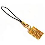 金運アップ!純金携帯ストラップ 珠が動く!【そろばん】24K ゴールド !ゴールド携帯ストラップ