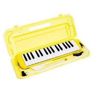 カラフル32鍵盤ハーモニカ MELODY PIANO P3001-32K イエロー