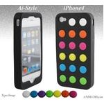 Ai-Style Series iPhone4 シリコンケース Type Swap【Ai4-Swap-Black】ブラック