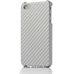 Ai-Style iPhone4 Carbon Look(ハードケース カーボンルック) 【Ai4-Carbon-Silver】(シルバー)